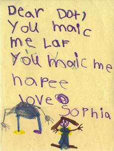 Letter from Sophia